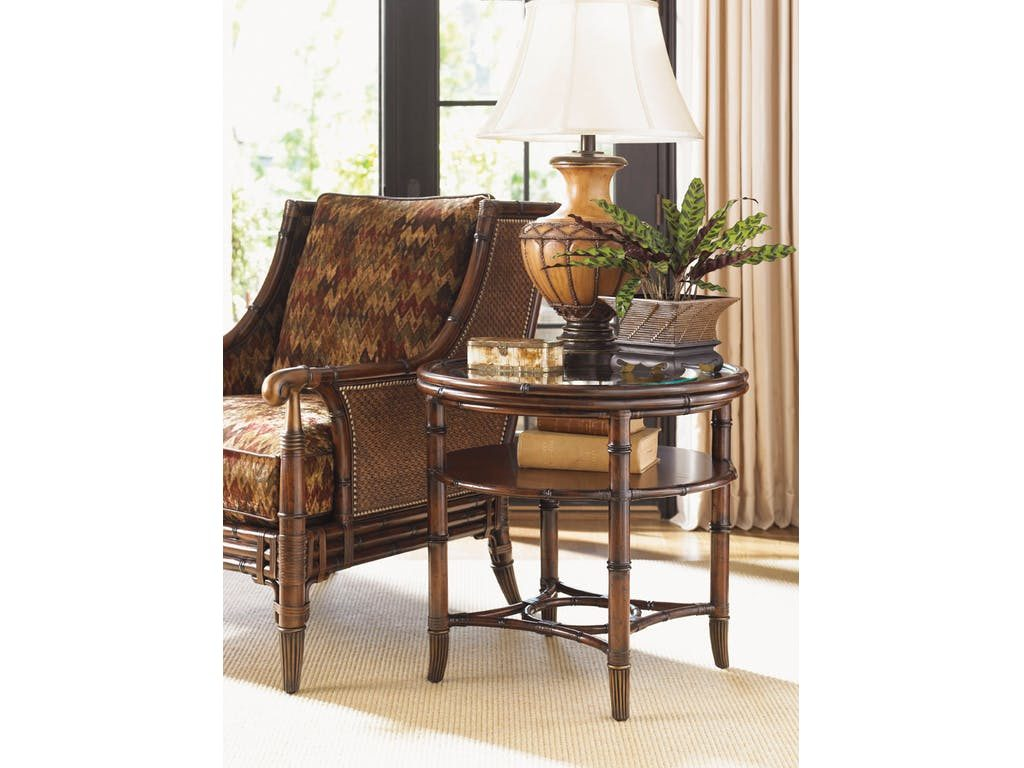 Tommy Bahama Home's Marlcopa Round Lamp Table