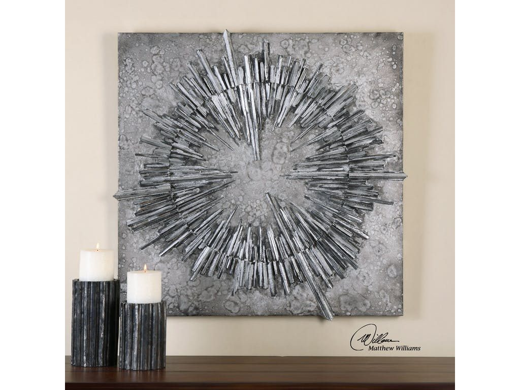Uttermost Accessories' Nebulus Silver Wall Art