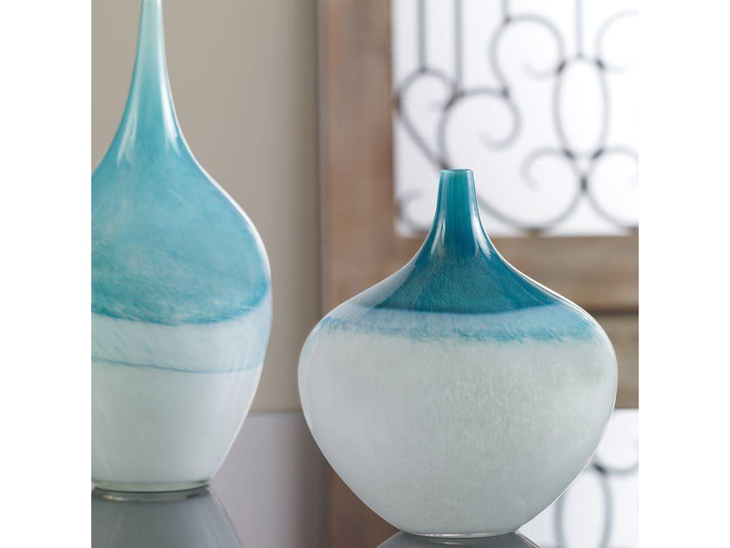 Carla Teal White Vases